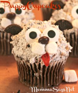 Cute Kitty and Puppy Cupcakes