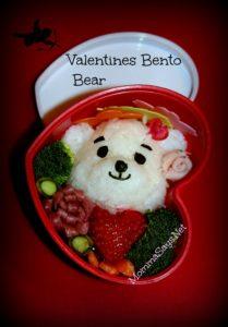 cute Valentines Bento Bear